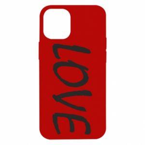 Etui na iPhone 12 Mini Love napis