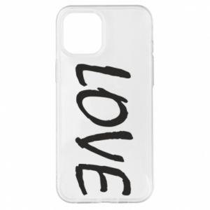 Etui na iPhone 12 Pro Max Love napis