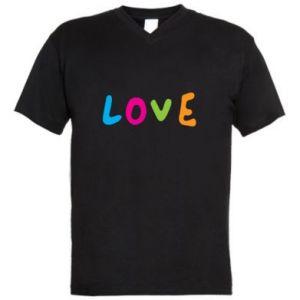 Męska koszulka V-neck Love, color
