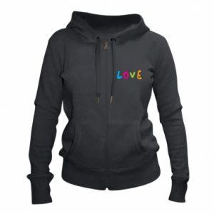 Damska bluza na zamek Love, color