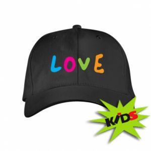 Dziecięca czapeczka z daszkiem Love, color