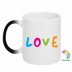Kubek-kameleon Love, color