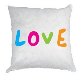 Poduszka Love, color