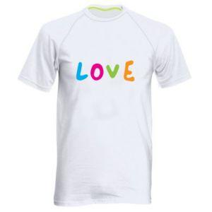 Męska koszulka sportowa Love, color