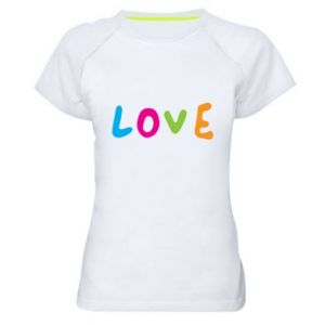 Damska koszulka sportowa Love, color