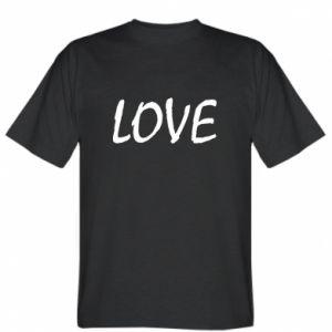 Koszulka męska Love napis