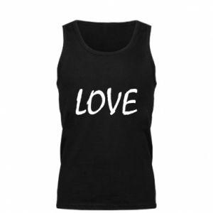 Męska koszulka Love napis