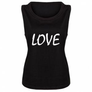 Damska koszulka bez rękawów Love napis