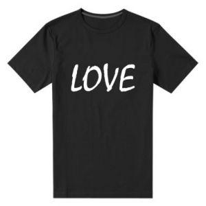 Męska premium koszulka Love napis