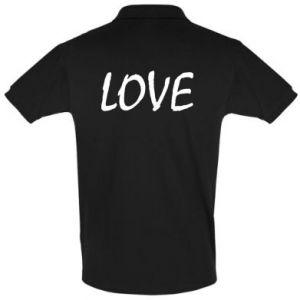 Koszulka Polo Love napis