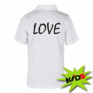 Koszulka polo dziecięca Love napis