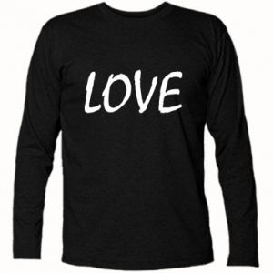 Koszulka z długim rękawem Love napis