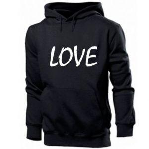 Męska bluza z kapturem Love napis