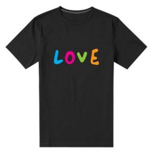 Męska premium koszulka Love, color