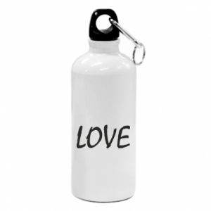 Bidon turystyczny Love napis