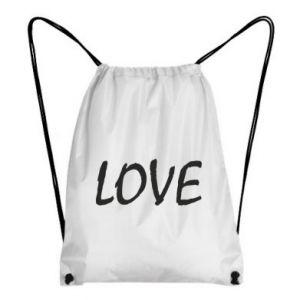Plecak-worek Love napis