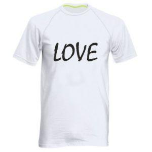 Koszulka sportowa męska Love napis