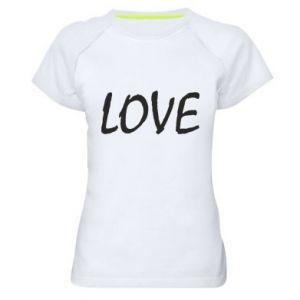 Koszulka sportowa damska Love napis