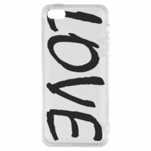 Etui na iPhone 5/5S/SE Love napis