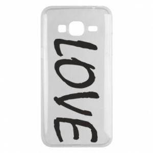 Etui na Samsung J3 2016 Love napis