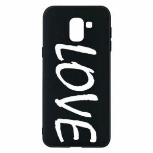 Etui na Samsung J6 Love napis