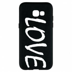 Etui na Samsung A5 2017 Love napis