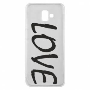 Etui na Samsung J6 Plus 2018 Love napis