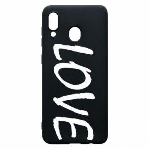 Etui na Samsung A30 Love napis