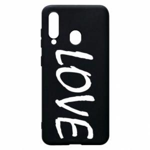 Etui na Samsung A60 Love napis