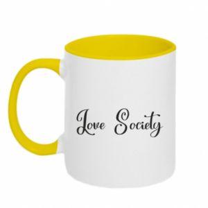 Kubek dwukolorowy Love society