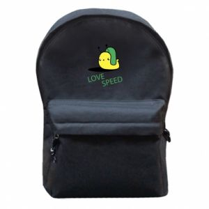 Backpack with front pocket Love speed