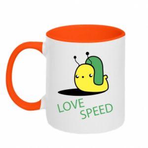 Kubek dwukolorowy Love speed