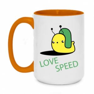 Two-toned mug 450ml Love speed