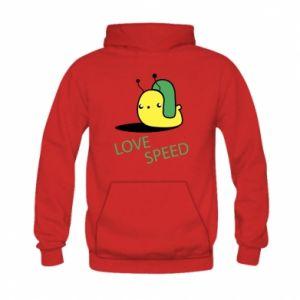 Kid's hoodie Love speed