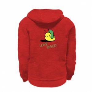 Kid's zipped hoodie % print% Love speed