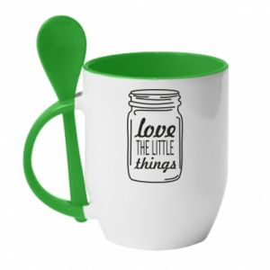 Kubek z ceramiczną łyżeczką Love the little things