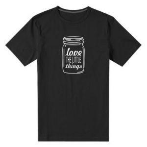 Męska premium koszulka Love the little things