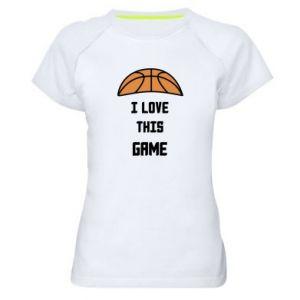 Koszulka sportowa damska I Love this game
