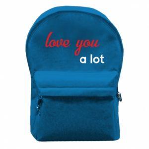 Plecak z przednią kieszenią Love you a lot