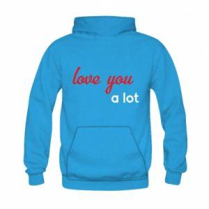Bluza z kapturem dziecięca Love you a lot