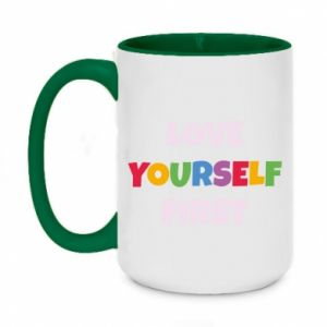 Kubek dwukolorowy 450ml Love yourself first