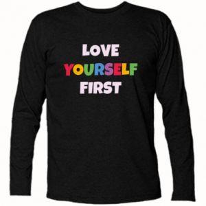 Koszulka z długim rękawem Love yourself first