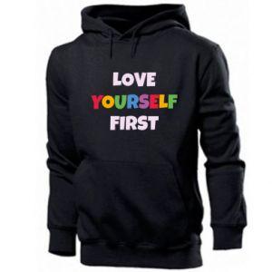 Męska bluza z kapturem Love yourself first