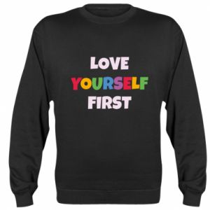 Bluza (raglan) Love yourself first