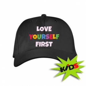 Dziecięca czapeczka z daszkiem Love yourself first