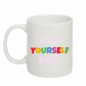 Kubek 330ml Love yourself first