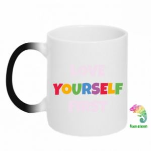 Kubek-kameleon Love yourself first