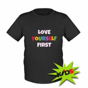 Dziecięcy T-shirt Love yourself first