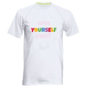 Męska koszulka sportowa Love yourself first