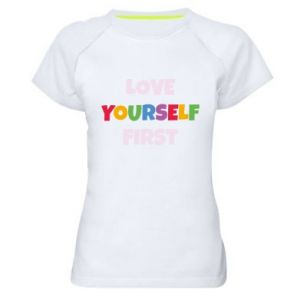 Damska koszulka sportowa Love yourself first